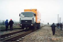 МАЗ на комбинированном ходу, локомобиль