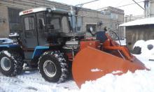 УПМ-1, УПМ-1М, базовый тягач, снегоочиститель навесной плужный УПМ1-2